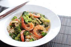 Sesame Shrimp with Broccoli click image for recipe
