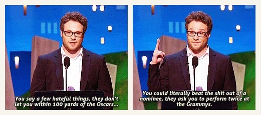 Seth Rogen has it right
