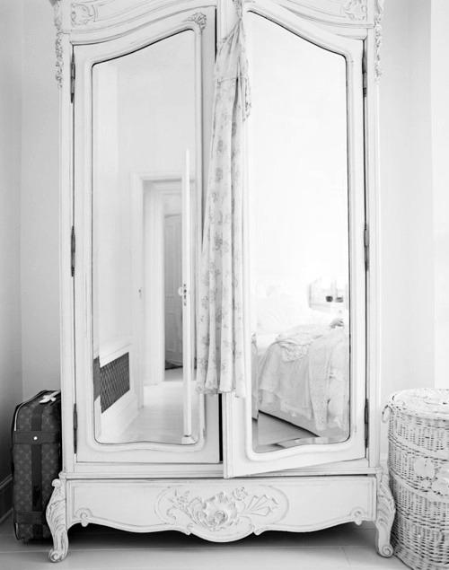 white LOVE armoire