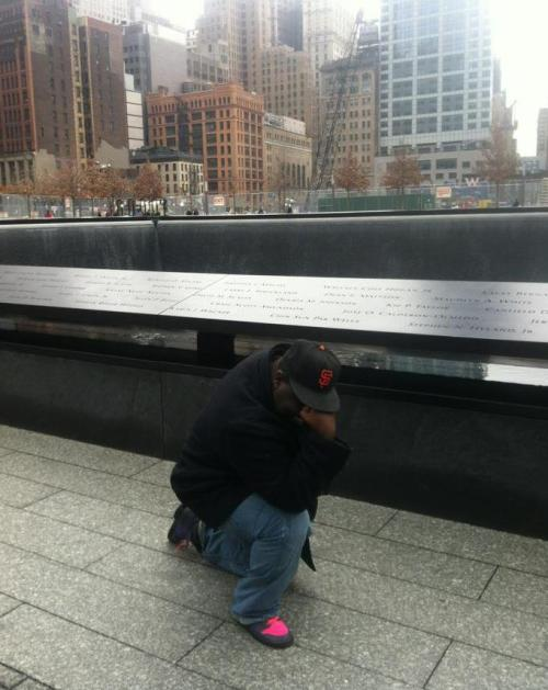 Tebowing at the 9/11 Memorial