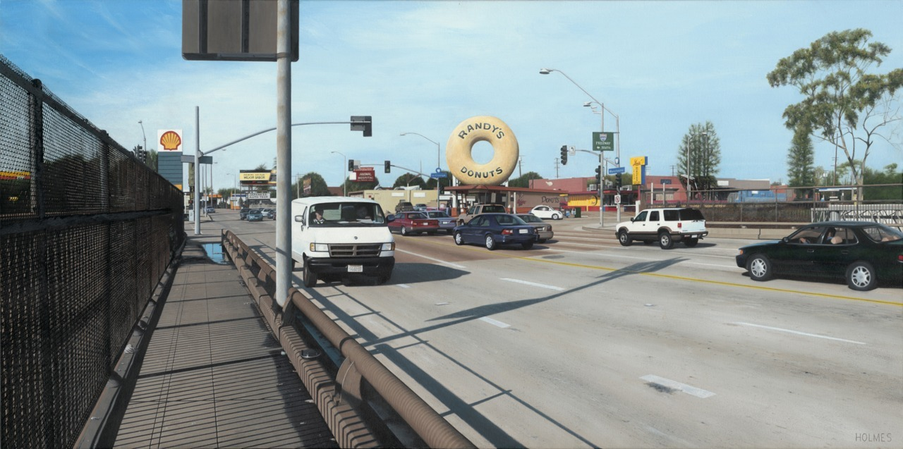"""Randy's Donuts""        2005 Acrylic/Canvas    48""x24"""