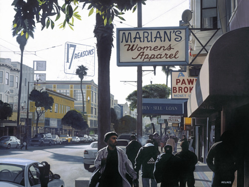 """Mission Street""    2002 Acrylic/Canvas        48""x36"""