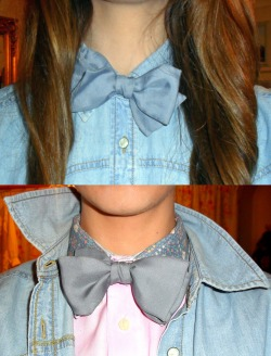Would you like a bowtie and a bleach-denim shirt with that? Why yes please.