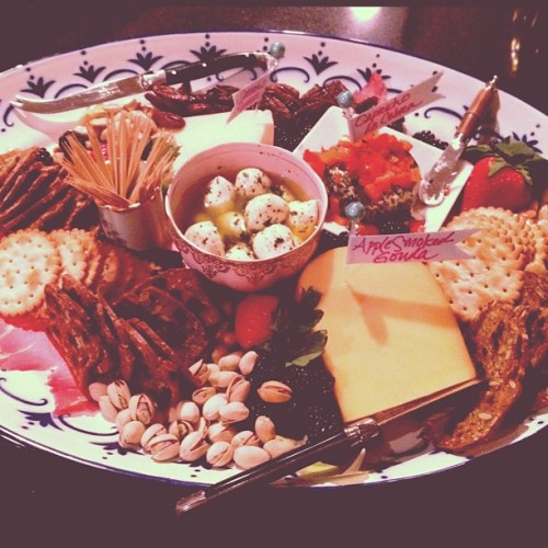 @allthingsjustso rocked out this gorgeous #cheese platter. yay #pinterest potluck!!  (Taken with instagram)