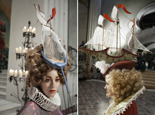 costume designs by Eiko Ishioka for Tarsem Singh's forthcoming Mirror Mirror photographed by Brigitte Lacombe
