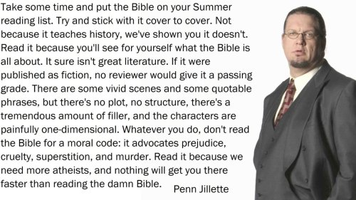 gisuck:  I'm pretty sure that @pennjillette is this smartest person I have ever known.  Good man.