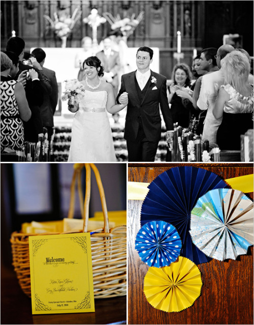 Yellow + cobalt blue wedding by Wedding chicks