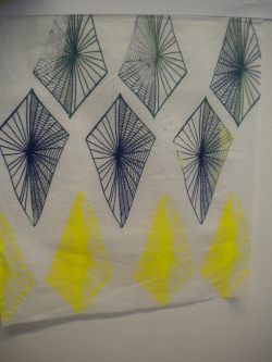 More Geometric fabric that I've done. Pigment print.