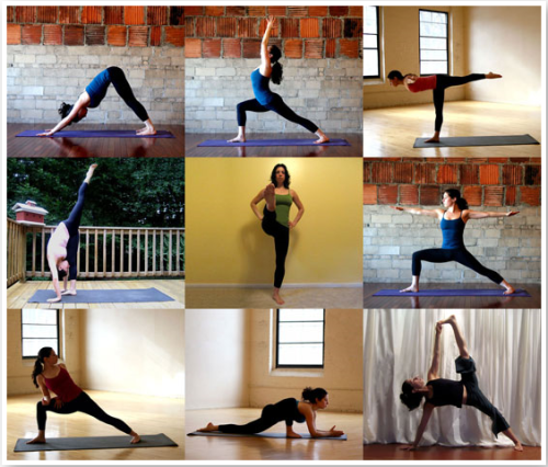 On The Go Flow - Printable Yoga Sequence Nine poses to strengthen, lengthen & tone you! Practice once through & print out a copy to keep on you. (via Fit Sugar)