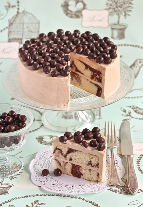 Mocha Marble Cake with Chocolate Covered Coffee Beans http://www.raspberricupcakes.com/2012/02/mocha-marble-cake-with-choc-coffee.html