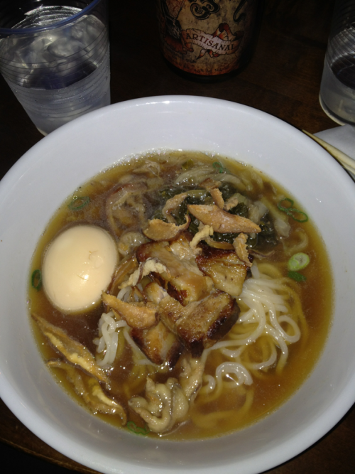 Roundeye Noodle Bar Pop-up. Pork belly ramen.
