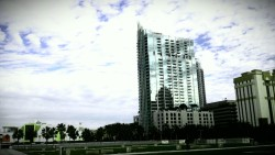 Downtown Tampa, FL Skypoint Apartments, Children's Museum, and Curtis Hixon Waterfront Park