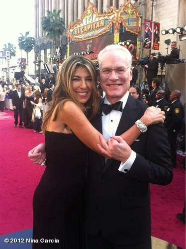 ninagarcia:  PHOTO: And we are live with Tim Gunn on ABC! #bestdressed #Oscars