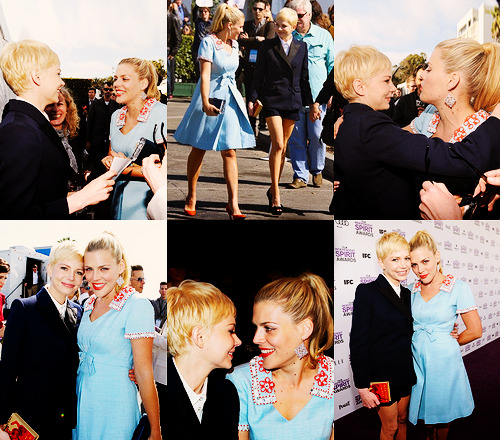 "@afterellen Michelle Williams and her BFF Busy Phillips are basically the reason those ""Best Friends Forever"" heart necklaces were created."