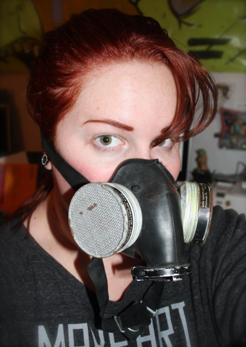 So it begins. - Surplus RestoMod Project. - US Navy Type Respirator. - So jazzed about this. - Pardon my grungy appearance. Going to finish cleaning this up now! More Info Here: http://electrarosepinup.blogspot.com/2012/02/new-project.html