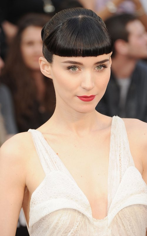84th Annual Academy Awards - Rooney Mara Nominated for a Best Actress Oscar. Style Notes — wearing an all-white Givenchy dress.
