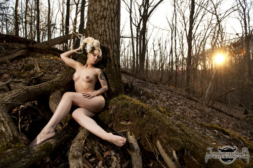Sunset in a forested park. Johnny B took this one. He's a'ight. :P xo