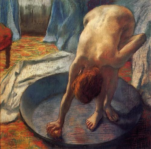 lyghtmylife:  Edgar Degas [French Realist/Impressionist Painter and Sculptor, 1834-1917] The Tub, 1886 pastel Hill-Stead Museum (United States)