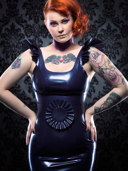 peggysoomodelface:  Me, wearing Fetasia Latex. Image by Julian Kilsby Make up by MsMoo. Full set will be uploaded here: http://www.facebook.com/pages/PeggySoo/133632116649046