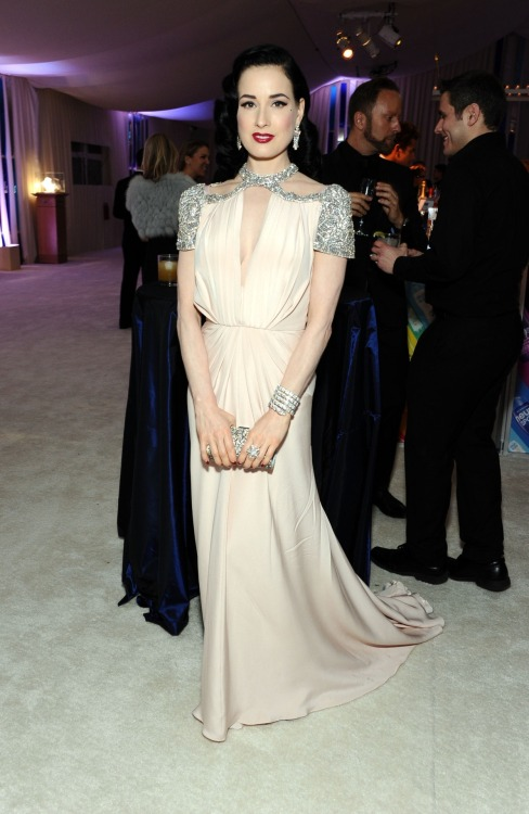 Dita Von Teese at the 20th Annual Elton John AIDS Foundation - Feb. 26, 2012.