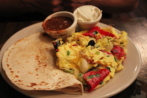 thefoodswag:  Migas Scrambled Eggs (by mspt47)