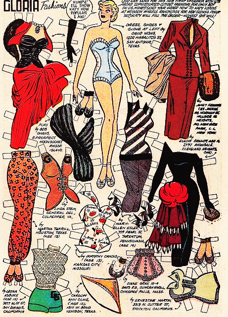 Gloria Grandbilt Paper Doll from the Katy Keene comics 1954 by Bill Woggen