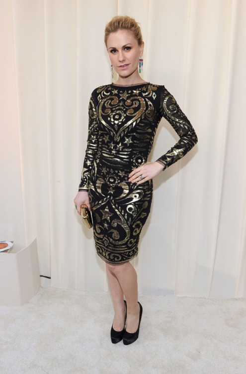 Anna Paquin at the 20th Annual Elton John AIDS Foundation - Feb. 26, 2012.