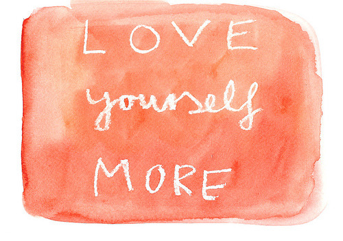 Afternoon Inspiration: Love Yourself More  (image via the londoner)
