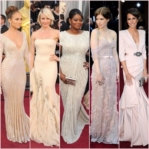 Red Carpet Trend: Pale Nudes & Pinks #fashion #oscars #eredcarpet #oscartrends #trend #pink #nude #pale (Taken with instagram)