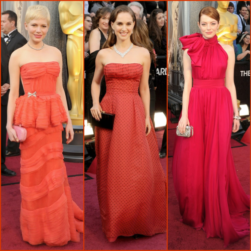 Red Carpet Trend: Red Tones #eredcarpet #oscars #trend #oscartrends #red