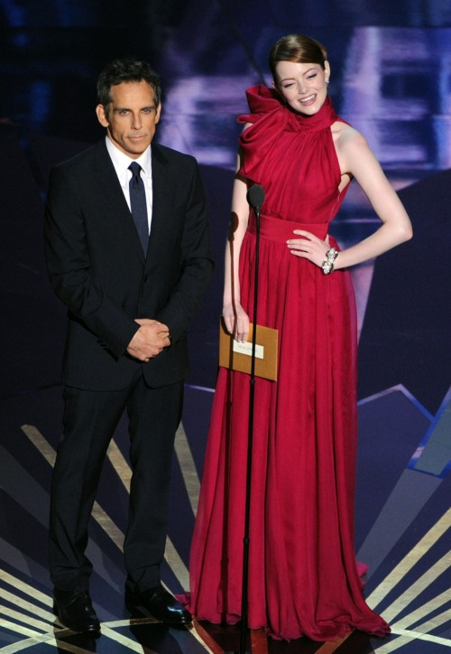 Emma Stone & Ben Stiller @ 84th Annual Academy Awards - Feb. 26, 2012.