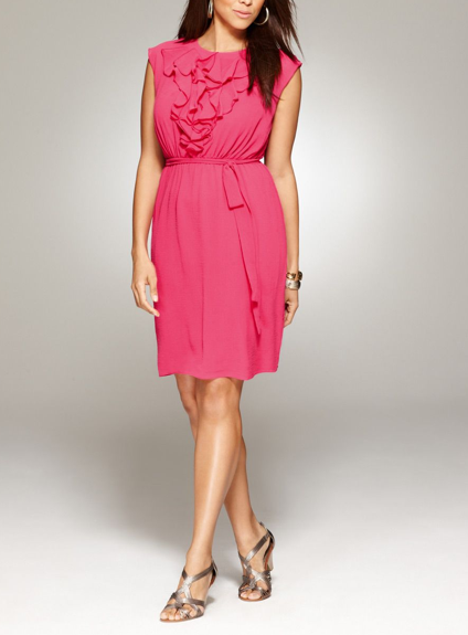 Plus Size Ruffle Front Dress Avenue.com - $68