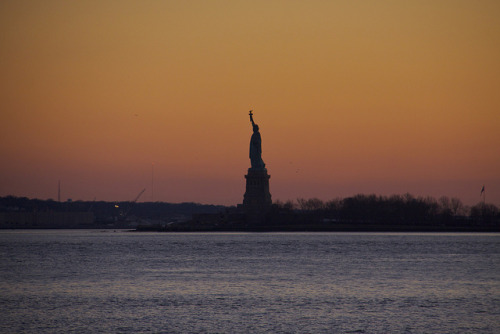 Lady Liberty on Flickr.Lady Liberty at sunset tonight…