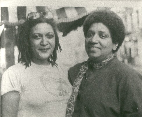 Audre Lorde and Jewelle Gomez (circa 1983)