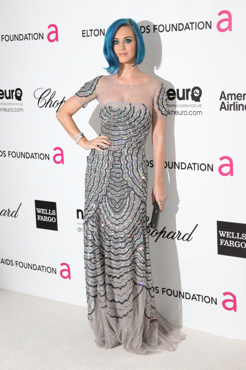 Katy Perry at the 20th Annual Elton John AIDS Foundation - Feb. 26, 2012.