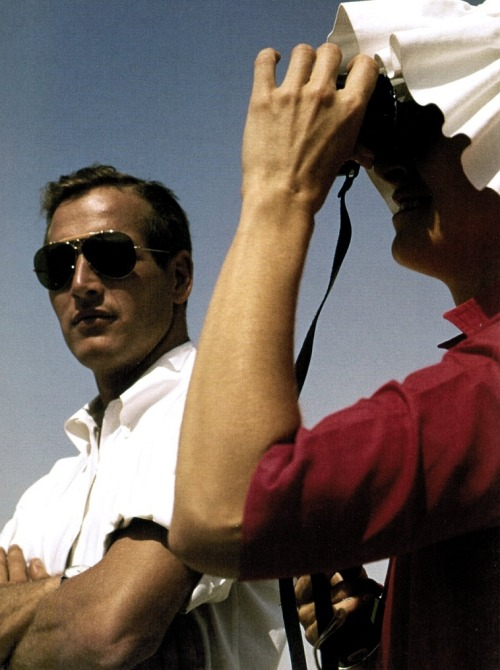 Paul Newman & Joanne Woodward vacationing across Israel during the filming of Exodus (1959) Photographer: Leo Fuchs  (via)