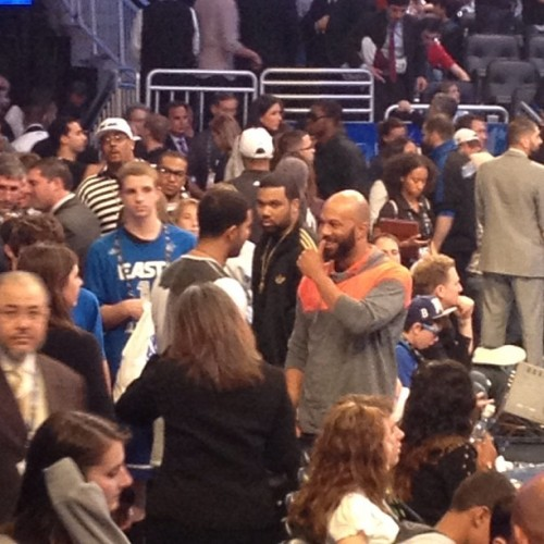 Drake x Common X NBA All Star Game http://www.urbangatsby.com