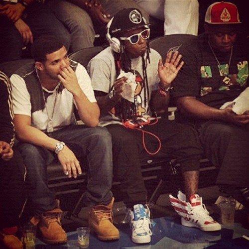 Drake x Gay Looking Lil Wayne x Mack Maine x NBA All Star Game http://www.urbangatsby.com