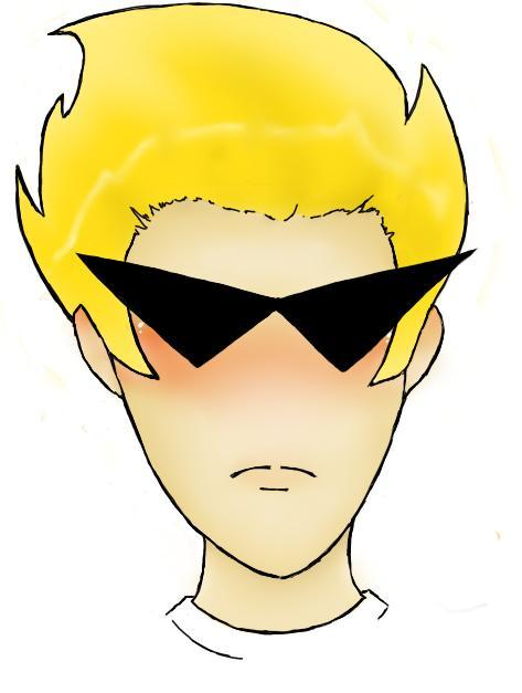 Homestuck Fanart. Dirk Strider and his auto-responder/shades. I really love these two. Their relationship is just appealing to me. I dunno why the urge to draw him rose….I think it's because I'm procrastinating on homework….yeah. it's that. definitely. Anywho, forgive his uneven shades! DX they were the hardest! And uhh…forgive the massive blush…it's a quirk of mine. XD