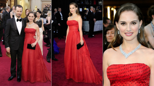 Natalie Portman at the Oscars (via All The Red Carpet Fashion at The 2012 Academy Awards).