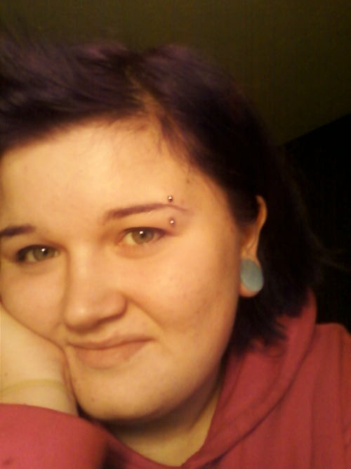 Name: Megan (:Age: 17City: Lilburn, GAPiercings Shown: 7/8ths plugs, eyebrowPiercings Not Shown: Tongue, Lip, Septum, NavelRetired Piercings: Foot Surface Piercings