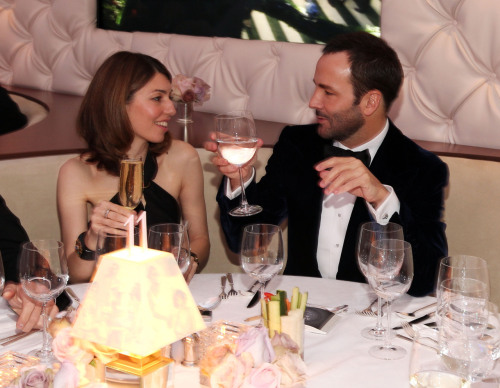 "suicideblonde:  Sofia Coppola and Tom Ford at the Vanity Fair Oscar Party, February 26th THESE TWO TOGETHER, OMG I AM DYING.  Lemme paraphrase their convo for y'all: ""Hey Sof, let's toast to those losers in the Academy who are too old and straight and male to appreciate the fabulously stylish movies we've made."" ""Because our movies are about being gay and/or young and/or female, so therefore completely invalid in their cataract-covered eyes?  TOTES, TOM.  TOTES."""