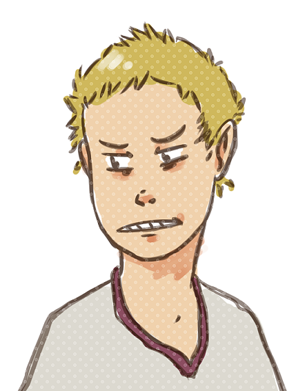 Shota Jinnouchi from Summer Wars. Somehow I ended up drawing him as a kid… oh well.