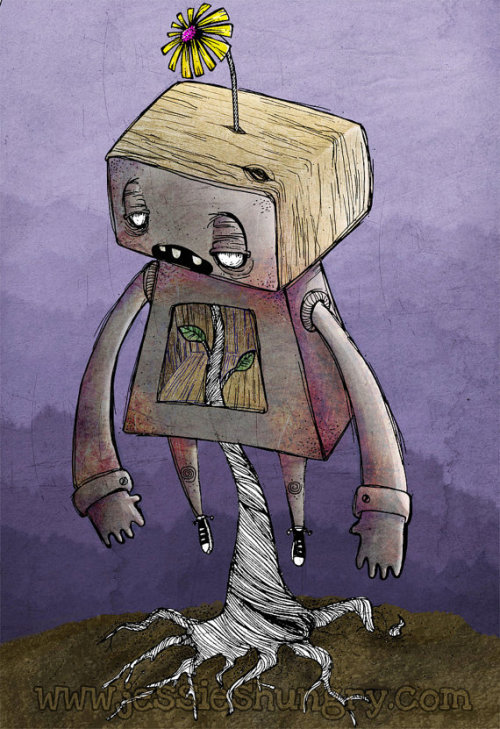 (via Blossom Bot 5x7 Print by jessieshungry on Etsy) Blossom Bot is up for sale in my etsy shop!