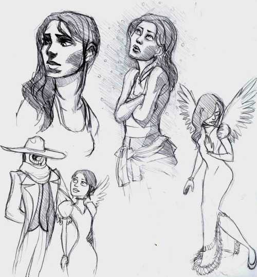 "wingiestbird:  so I was drawing Chell with ""A Monster In Paris"" and ""La Seine"" set on repeat woops"