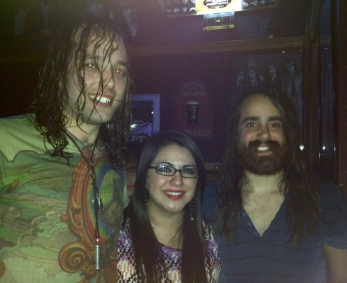 Me with A.J. and Jack of  The Bright Light Social Hour :)  YOU ALL NEED TO SEE THEM LIVE!