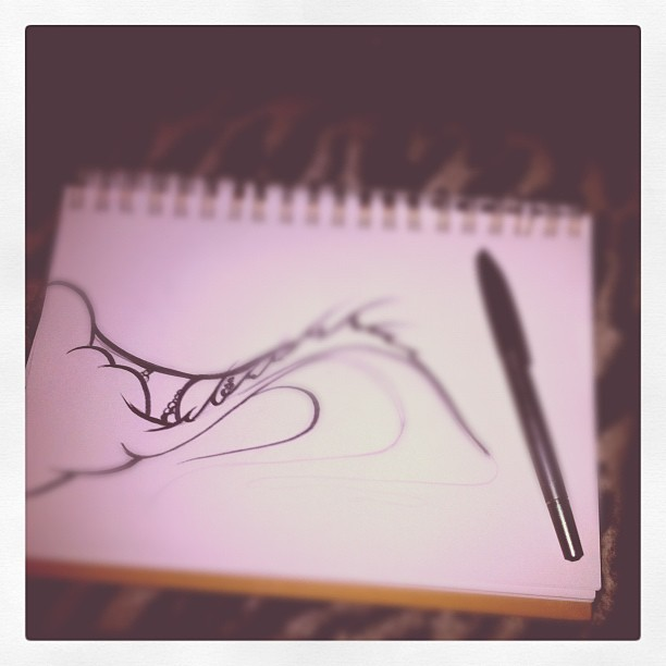 Day 26: night time sketching …sometimes I miss drawing