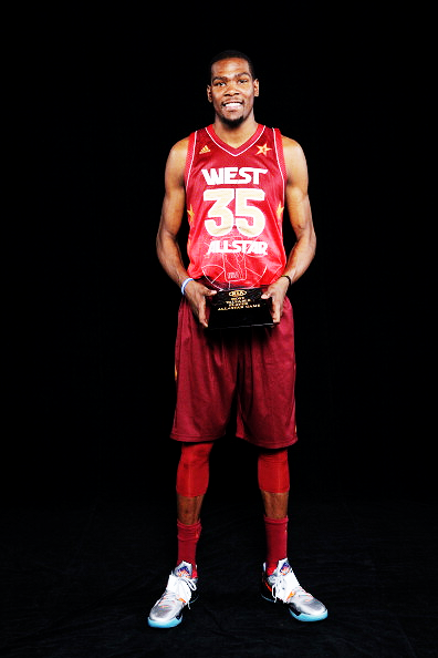 Kevin Durant takes MVP for the 2012 NBA All Star game. Congrats Durantula, well deserved.