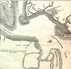 MAP SHOWING THE FORTS, ISLANDS, ETC., OF THE HARBOR OF CHARLESTON, SOUTH  CAROLINA.