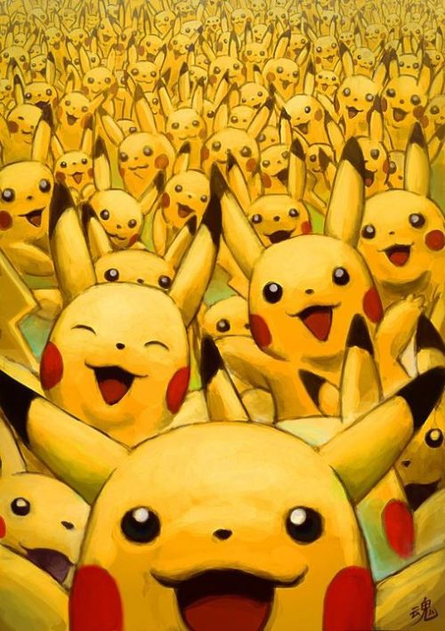 ry-spirit:  Wild Pikachu Appears! Drawn by Ry-Spirit  The first ones the real one! XD